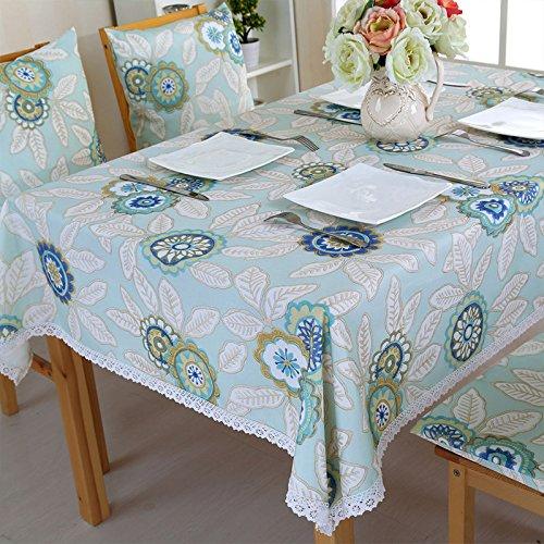 Uus Nappe à carreaux étanche Lot sans huile lavable Nappe Pastoral Style rectangle Table basse Coque 130*180cm b