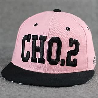 TXP 100% Cotton Embroidered Punk Rock Running Man Song Ji-Hyo Style Baseball Adjustable Hat Cap(cho.2 Pink)