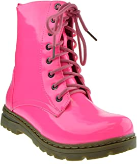 hot pink flat boots