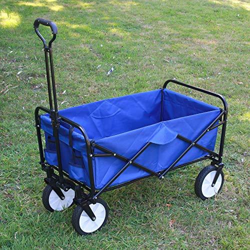 SKYLANTERN Chariot de Jardin à roulettes Bleu -...