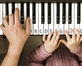 AUBNICO Piano Stickers for Keys Easy Installation Transparen