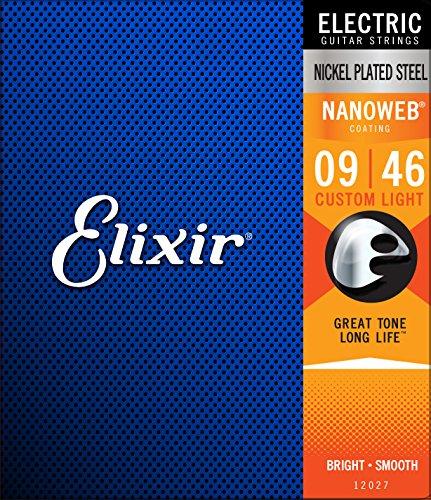 Corda Elixir Encordoamento .009 Custom Light Nanoweb para Guitarra 12027