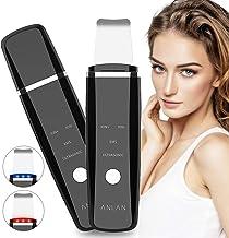 Ultraschallpeelinggerät ANLAN Skin Scrubber Ultraschall-Peeling Porenreiniger Akne-Entferner Ionen Hautreiniger Mit Blau-/Rotlicht Für Gesichtshautpflege