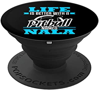 Pitbull Named Nala Dog Mom Dad Rescue Awareness Gift PopSockets Grip and Stand for Phones and Tablets