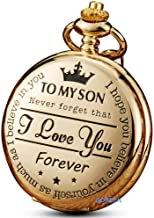 GORBEN Pocket Watches to My Son Forever Gifts for Son from Mom Dad for Christmas Birthday Graduation