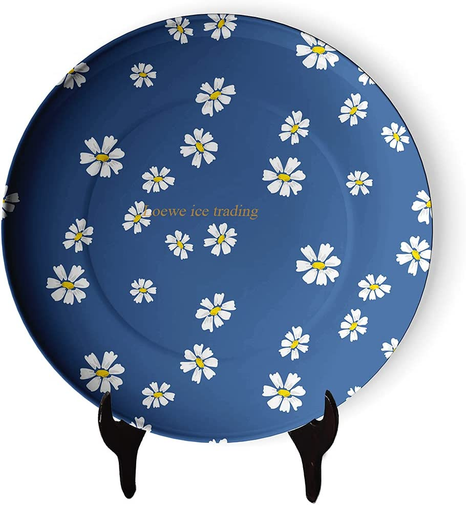 Minimalism Daisy Flower Pattern Decorative Household quality assurance Long-awaited Moder Plate