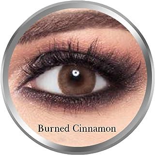 Amara Burned Cinnamon Contact Lenses, Original Unisex Amara Cosmetic Contact Lenses, Monthly Disposable, Burned Cinnamon (...