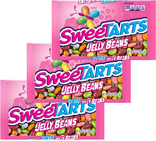 SWEETART JELLY BEANS EASTER CANDY - EASTER BASKET NEST CANDIES - Perfect Holiday Candies For Kids and Adults - 14 Oz - 3 Pack - 3 Bags (Sweetarts)