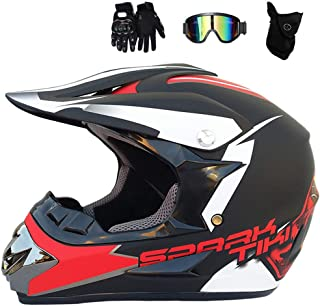 ZOLOP Motocross Helm Erwachsener Adult Motorrad Sports Enduro Downhill ATV MTB Quad Motorr/äder Off-Road-Motorrad-Helm Schwarz gr/ün 6, M Herren Crosshelm mit Brillen Maske Handschuhe