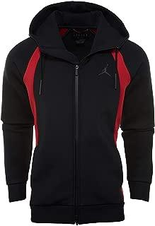 Nike Mens Tech Fleece Flight Full Zip Hoodie Black/Gym Red 879497-013 Size X-Large