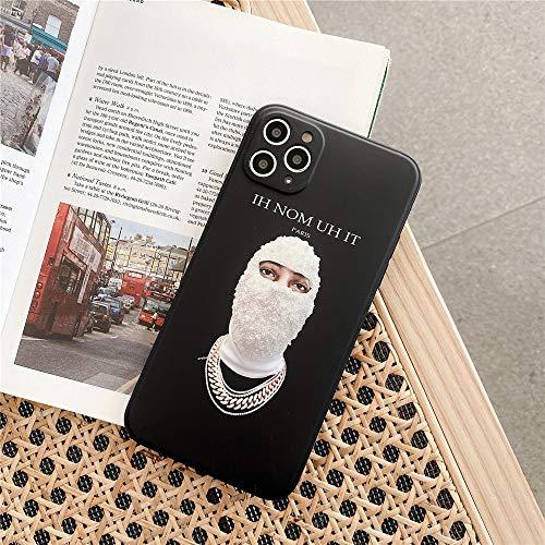 Wyalm Hombre Enmascarado de Perla con Estilo Maison de IH Nom UH NIT Funda telefónica para iPhone 12 11 Pro X XR XS MAX 7 8 PULINA DE Silico Suave (Color : 1, Size : Iphone12 Pro)