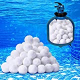 Pool Filter Sponge Balls Sand Pool Filter Media Filters Alternative to Sand and Filter Glass for Swimming Pool Hot Tub Spa Above Ground Pools and Fish Tank (3 LBS/ 1400 g)