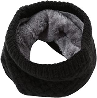 Pingtr Men Women Winter Thick Knitted Snood Scarf Cosy Woollen Loop Infinity scarf,12 Colors