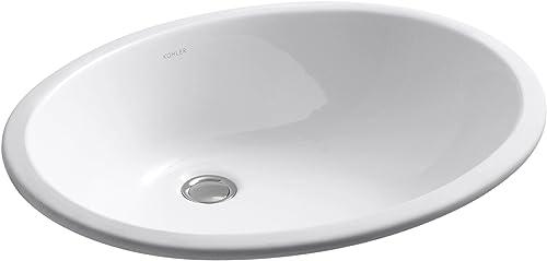 wholesale KOHLER K-2211-0 Caxton outlet online sale Undercounter online Bathroom Sink, White outlet sale