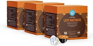 Happy Belly - Latte Macchiato Capsules de Café Compatibles avec NESCAFÉ Dolce Gusto - 48 Capsules (3 Paquets x16) (24 port...