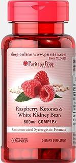 Puritan's Pride Raspberry Ketones and White Kidney Bean 600mg Complex-60 Capsules