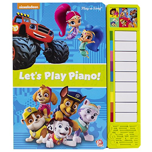 Nickelodeon PAW Patrol, Bubble Guppies, and more! - Let's Play Piano! Board Book with Built-In Keyboard Piano - PI Kids (Play-A-Song)