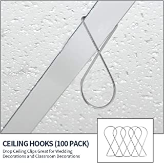 Saihisday Ceiling Hook Clips T-Bar Clip for Drop Ceilings Office Home Wedding and Classroom Decorations