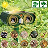 Neucox Cat Scarer Solar Powered Waterproof Cat Repellent Fox Repellent Garden Ultrasonic Pet