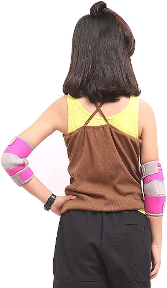 Biking Handball Scooters ONT Children Elbow Bandage 1 Pair Adjustable Girls Boys Elbow Pads Neoprene Elbow Brace for Cycling Games Soccer Volleyball