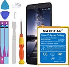 ZMax Pro Z981 Battery, MAXBEAR [3600mAh] Li-Polymer Built-in Battery Replacement for ZTE Grand X Max 2 Z988 / ZMax Pro Z981 Li3934T44P8H876744 with Repair Tool Kits [24 Month Warranty]