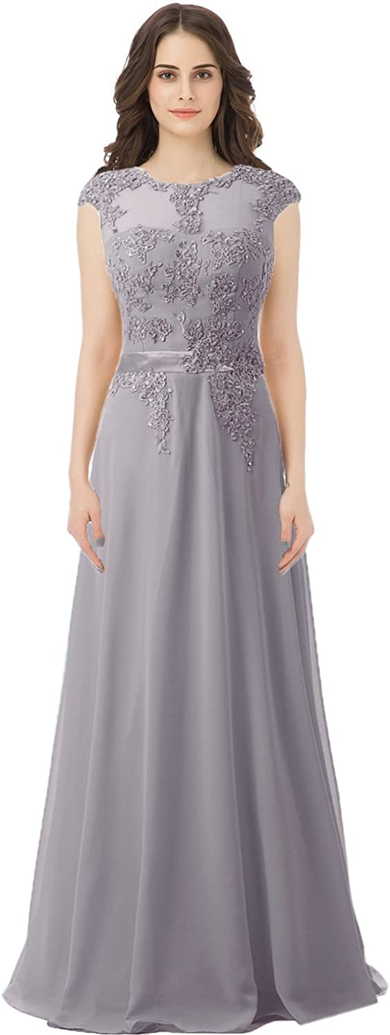 Belle House Women's Sheer Neck s Bridesmaid Evening Gowns Long Beaded Prom Dress