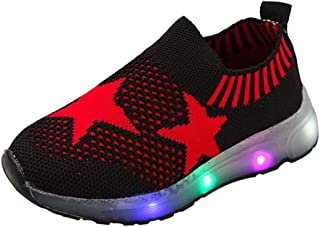 👍ONLY TOP👍 Infant Toddler Kids Girls Boys Cartoon LED Light Up Mesh Breathable Sneakers Luminous Sport Shoes