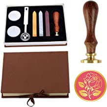 Wax Seal Stamp Kit, VIYOUNG Classic Vintage Seal Wax Stamp Set, Creative Mysterious Stamp Maker Kit (Rose)