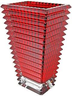 Baccarat Eye Red Tall Rectangular Vase 2802302