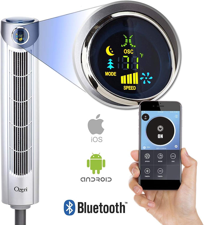 "Ozeri Ultra 42"" Oscillating, blueetooth Tower Fan"