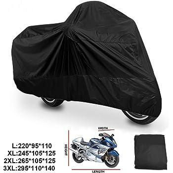 R SODIAL HOUSSE BACHE MOTO Couvre-Moto velo VTT scooter Taille XL 245cm rouge noir protection