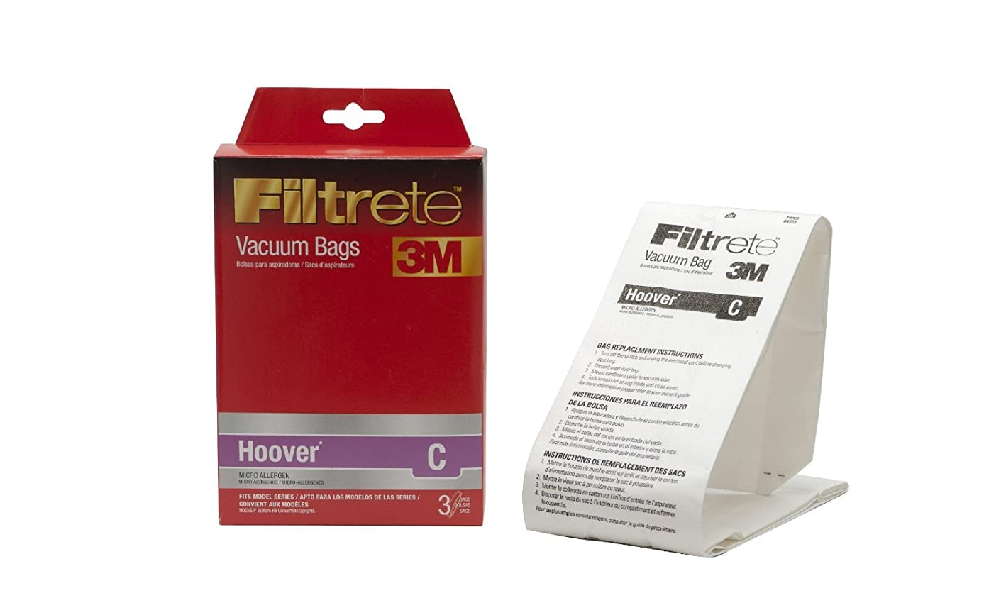 Filtrete Convertible Vacuum Bags Style C For Hoover 3 / Pack