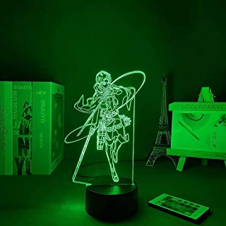 JYDNBGLS Anime led Nachtlampje Anime 16 Kleuren Remote Beste Verjaardag Kerst Anime Geschenken Anime Aanval op De Giant Le...