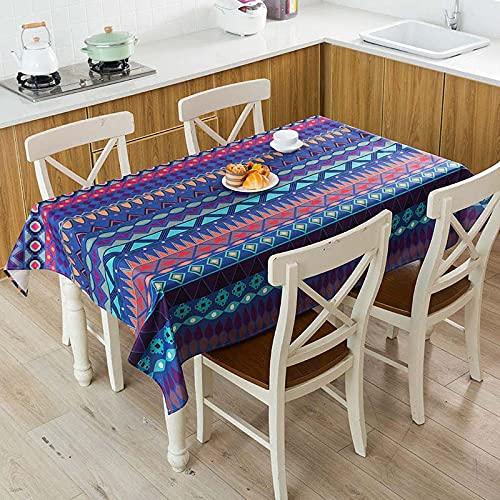 XXDD Mantel de Lino Impermeable con patrón de costumbres étnicas africanas, Mantel Decorativo para el hogar, Cocina, Hotel, Escritorio, A12, 140x140cm