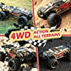 1/18 Remote Control Car, 4WD Electric High Speed Off-Road RC Monster Car 30+MPH 2.4 Ghz All Terrains RC Vehicle Truck Toys, with 2 Rechargeable Batteries for 40+ Min Play, Gift for Boys Teens Adults #5