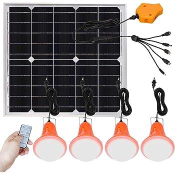 4W 6V Solar Power Panel LED Licht Lampe Ladegerät Hausgarten System Kit Zuhause