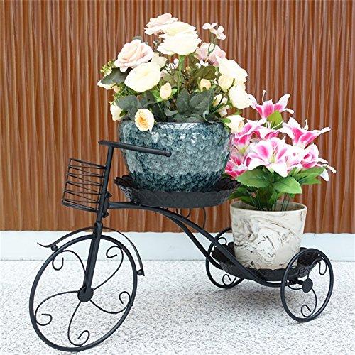 YA-RACK Inicio Anti-Herrumbre Forma de Bicicleta Hierro Arte Flor bastidores/Soporte Creativo Piso Plantas en macetas Soporte para balcón Sala de Estar Dormitorio Jardín