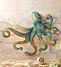 Wind & Weather Handcrafted Metal Octopus Wall Art