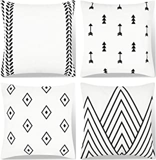 black and white pillow covers 18x18