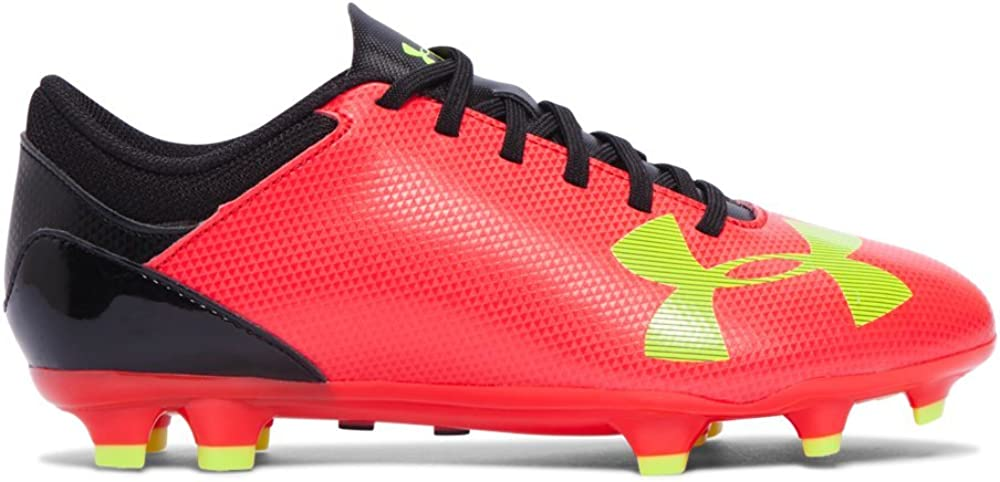 Under Armour Grade-School Spotlight DL FG JR True Rouge/Heavy Yellow-Black Sneakers 5