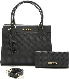Bolsa Feminina Grande Mais Carteira com alça transversal Santorini Handbag