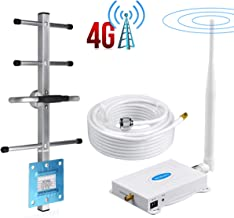 Verizon Cell Phone Signal Booster 4G LTE Band 13 700Mhz FDD Verizon Cell Signal Booster Repeater Signal Amplifier Boost Data and Voice BOSURU Home/Office Use with Antenna Kits Support multiple devices