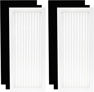 SKROS Air Purifier Hepa Filter Set Compatible with Hamilton Beach TrueAir Air Cleaner 04383,04383A,04384,04385,04386A (2 Pack Hepa Filter + 4 Pack Activated Carbon Filter)