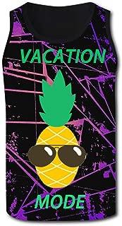 BFBJFG Pineapple with Sunglasse Men's Summer Vest 3D Print Tank Top Graphic Sleeveless Tshirts