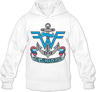 GOOOET Men's Weezer Cruise Logo Hoodies