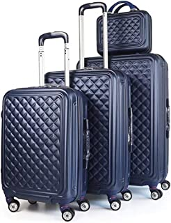 Travel Trolley Luggage Bags, Set of 4 Pieces, Blue