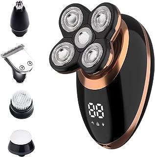 Surker Head Shavers for Bald Men 4d Electric Razor 5 in 1 Nose Beard Trimmer Hair Clipper Shaving...