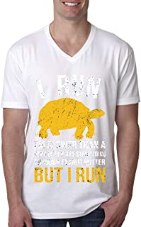8883520fe Classic I Run I'm Slower Camiseta con cuello en v para hombre de tortugas
