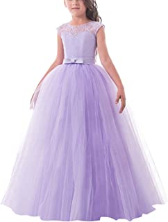 TTYAOVO Girls Pageant Ball Gowns Kids Chiffon Embroidered Wedding Party Dress