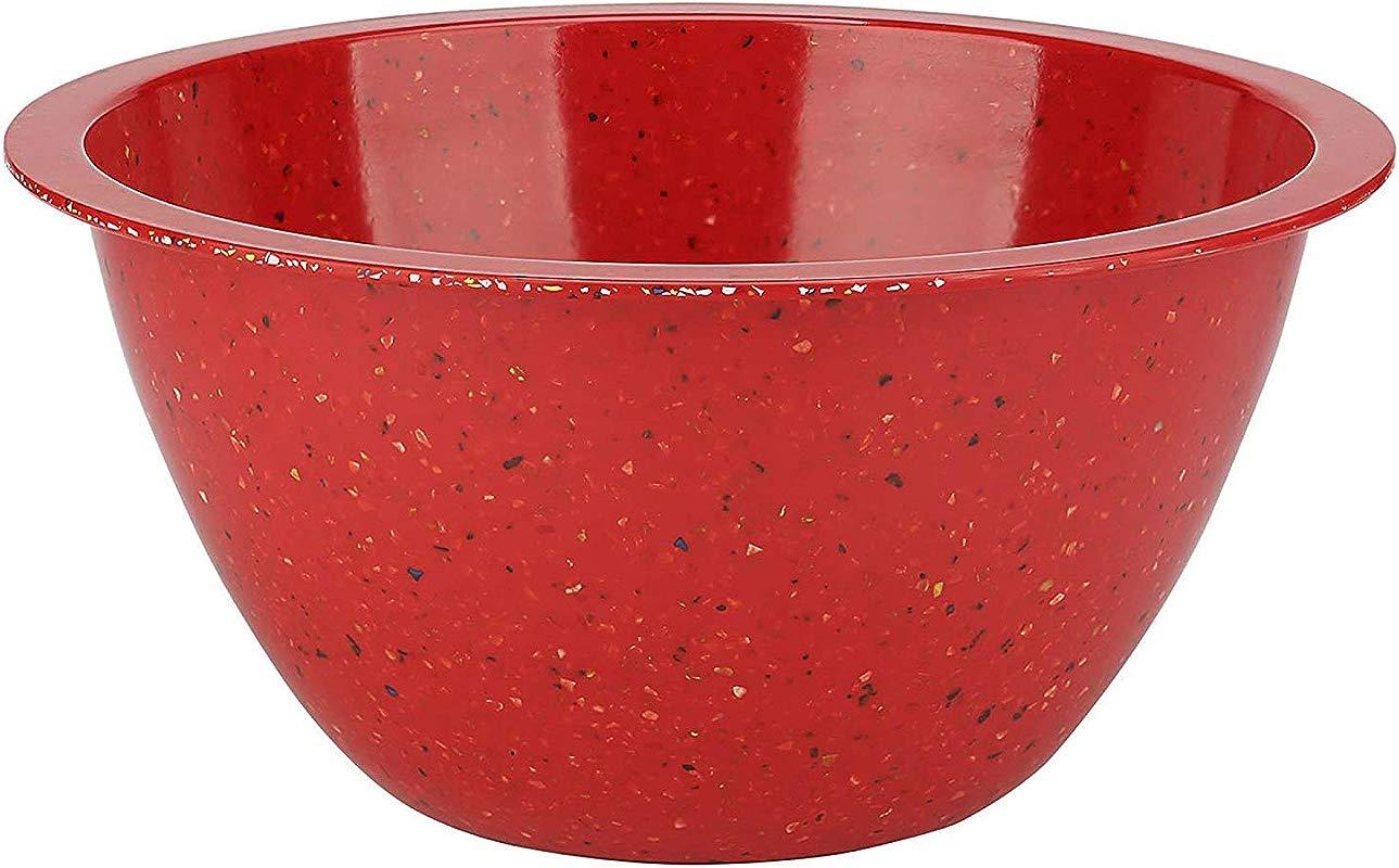 Zak Designs 0078 5160 AMZ Confetti Mixing Bowls Serving Red XL